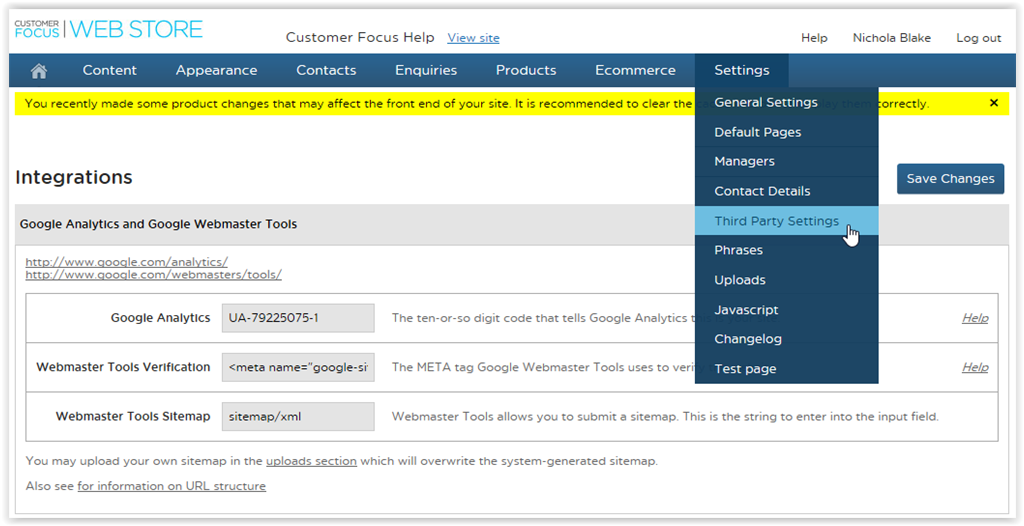 Adding Google Analytics Tracking ID to STORE