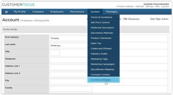 On This Screen You Can Define A Custom Exchange Rate As Well The Date Wish Conversion To Start From Ly Settings